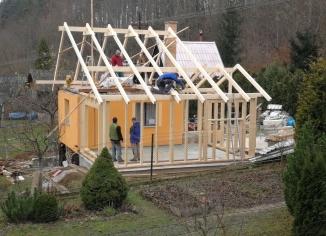 Dřevostavba rodinného domu Blansko