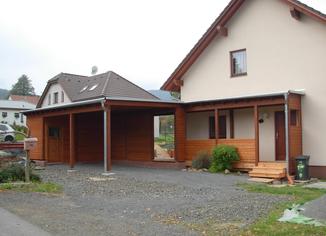 Přístavba pomocí dřevostavby