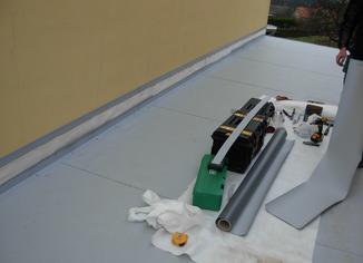 Plochá střecha, PVC Dekplan.