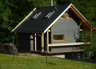rekreační chata - dřevostavba