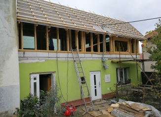 Nadstavba rodinného domu pomocí dřevostavby, Sebranice