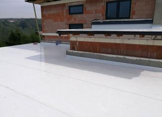 Plochá střecha realizace