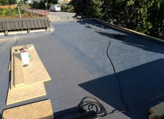 Plochá střecha realizace 2