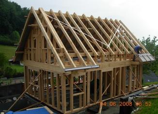 Rámová konstrukce včetně krovu