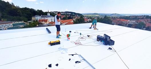 Plochá střecha příklad