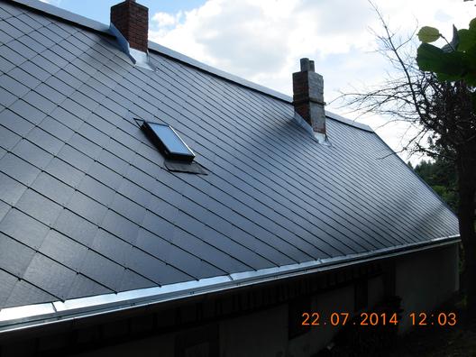 Rekonstrukce střechy Eternit.