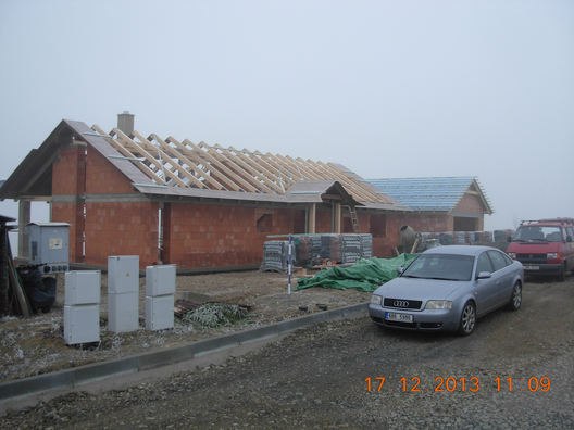 Střecha z kvh hranolů