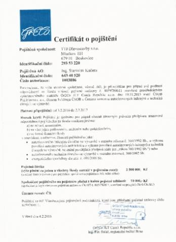 Připojištění - projekce, PENB